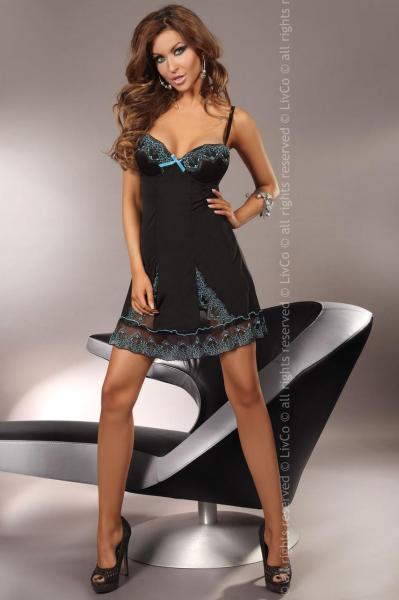 Соблазнительный комплект Сорочка + трусики KOMPLET LIVIA CORSETTI CERES S-XXL_conf Женское эротическое белье и одежда