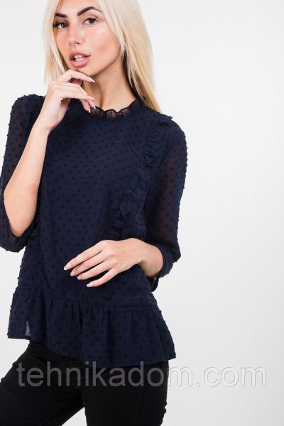 Блуза 44370 (т.синий)