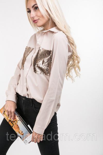 Рубашка 12010 (св.персиковый)
