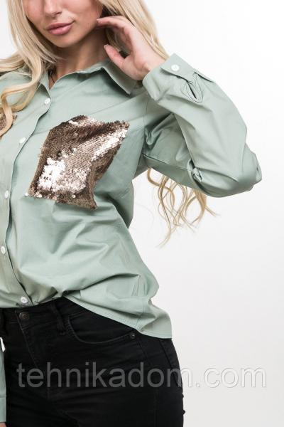 Рубашка 12010 (св.зеленая_мята)