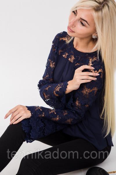 Блуза 63070 (т.синий)