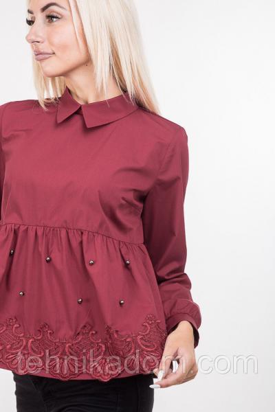 Блуза 63290 (бордовый)