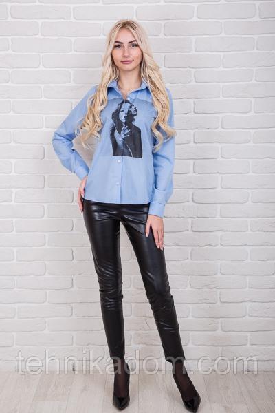Рубашка 84900 (голубой)
