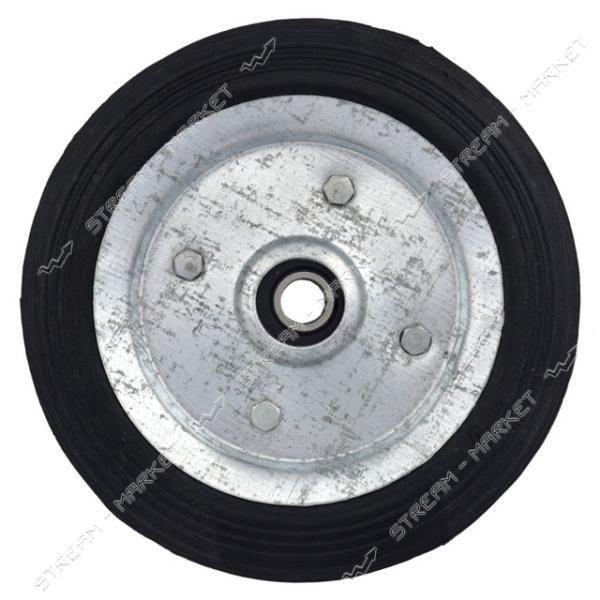 Колесо для тележки 125мм ось 10мм