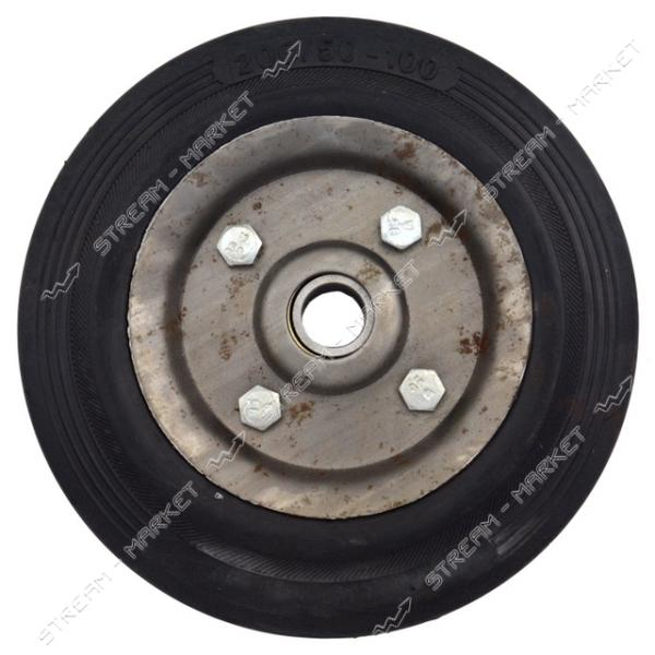 Колесо для тележки 200/50-100 ось 20мм (2 подшипника)