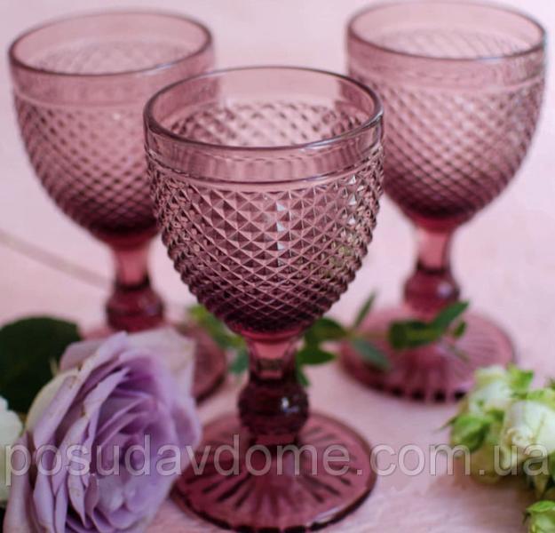 """Набор бокалов 6 шт """"Амбер"""" розовых высоких 250 мл, 34215-16-3"""