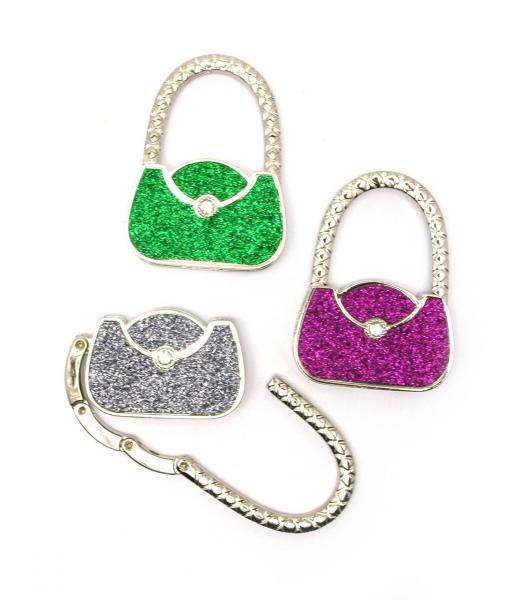 "Вешалка для женской сумочки ""сумочка-замок"" (6х4,5х1 см)"