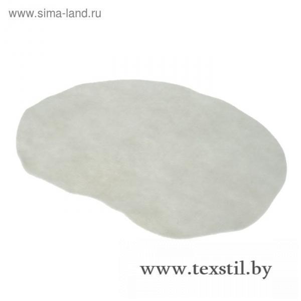 Фото Баня и сауна, Текстиль для бани и сауны, Коврики для сауны Коврик для бани, синтетика, белый, 22 х 16 см