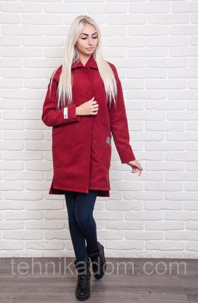 Пальто 42400 (бордовый)
