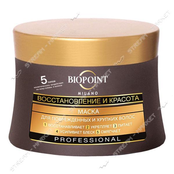Маска для поврежденных волос BIOPOINT Восстановление и красота 250 мл