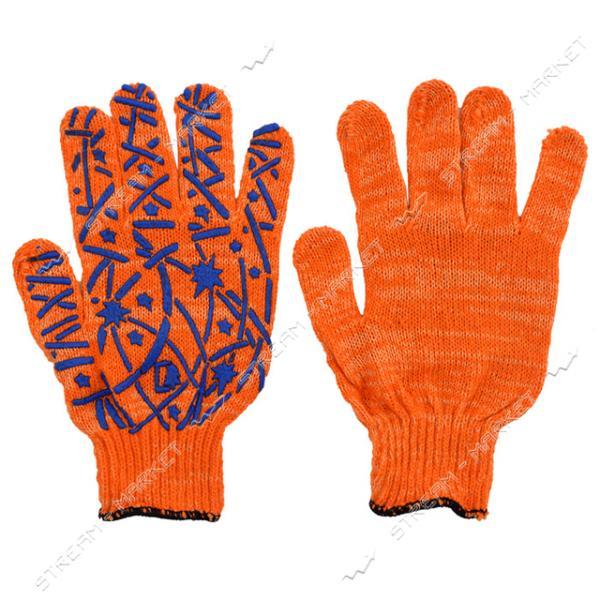 Перчатки трикотажные Елка с ПВХ покрытием размер 8