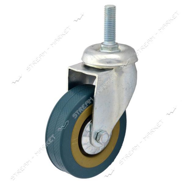 Ролик мебельный Резиновый плоский d100 мм со штифтом d=8 мм