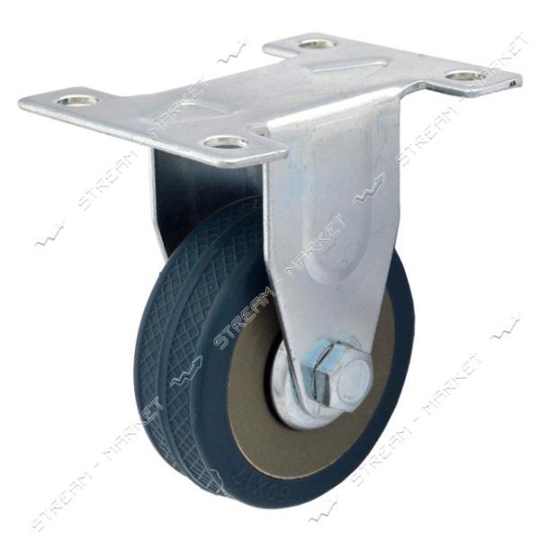 Ролик мебельный Резиновый плоский d75 мм направленный
