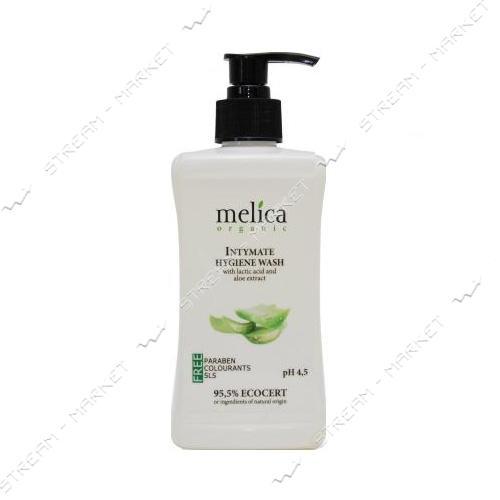 Средство для интимной гигиены с молочной кислотой и экстрактом алое Melica Organic 300 мл
