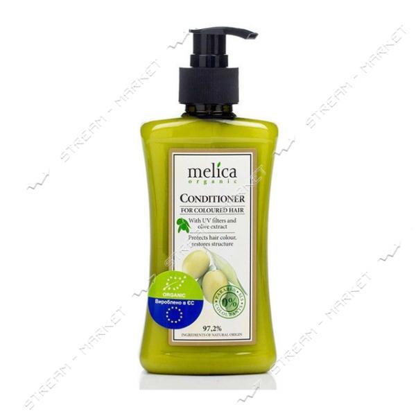 Кондиционер для окрашеных волос Melica Organic с УФ-фильтрами и экстрактом оливок 300 мл