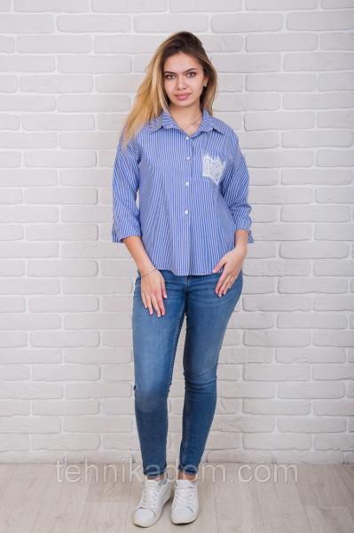 Рубашка 61340 (джинс)