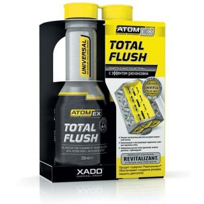 Очиститель маслосистемы XADO Atomex Total Flush с эффектом раскоксовки поршневых  колец.