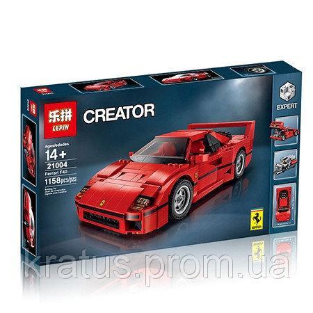 "21004 Конструктор Lepin ""Феррари F40"" (аналог Lego Creator Expert 10248), 1158 дет"