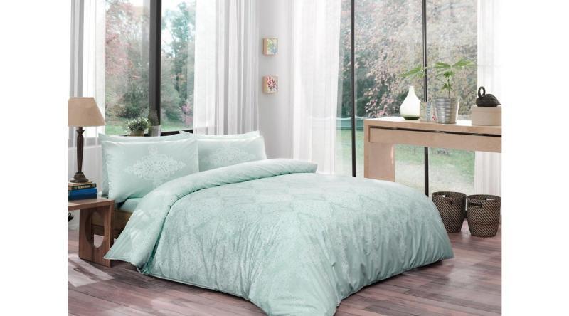 Комплект постельного белья Tac EveryDay Ranforce Sienna mint полуторный