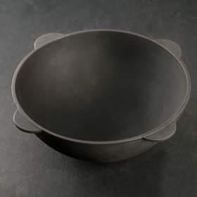 Казан чугунный с крышкой диаметр 400 мм , глубина 170 мм, обьем 13 л, вес 16,5 кг, толщина стенки казана 7 мм