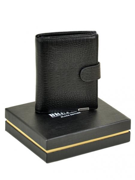 Фото  Мужской бумажник большая монетница SPA кожа Артикул M4753 черный