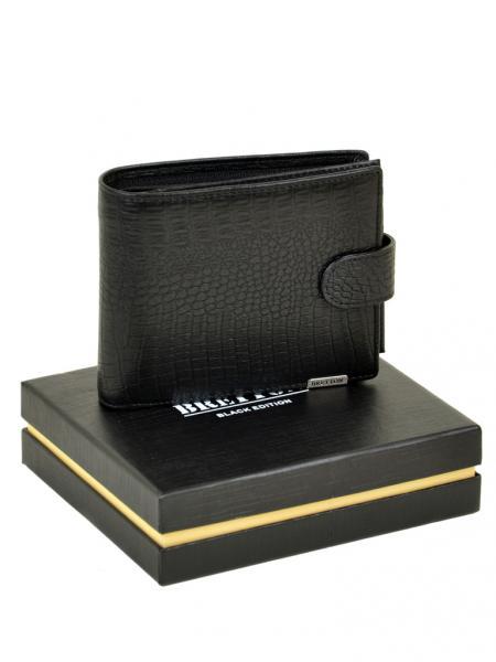 Фото  Мужской кошелек средний SPA кожа Артикул M3707 черный