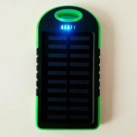 Power Bank 10000 mAh на солнечных батареях+2 USB+Фонарь+Карабин