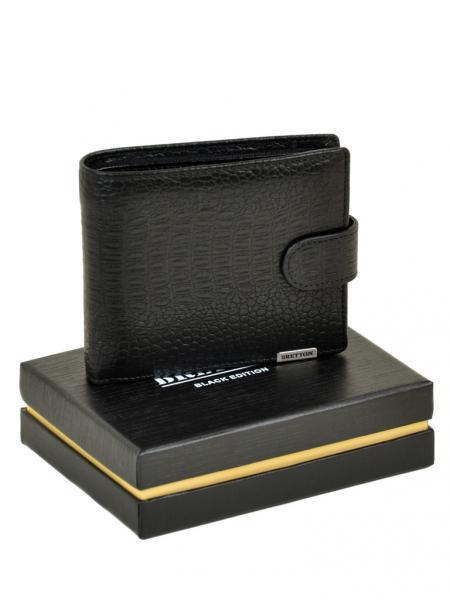 Фото  Мужской кошелек средний SPA кожа BRETTON Артикул M3602 черный