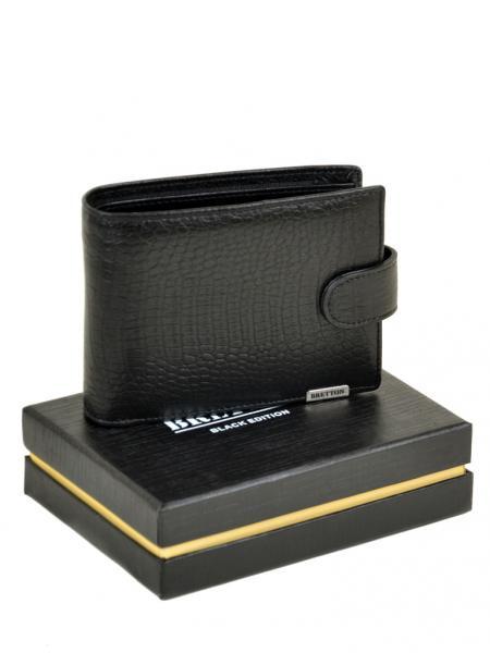 Фото  Мужской кошелек маленький с доп.визитницей SPA кожа BRETTON Артикул M3451 черный