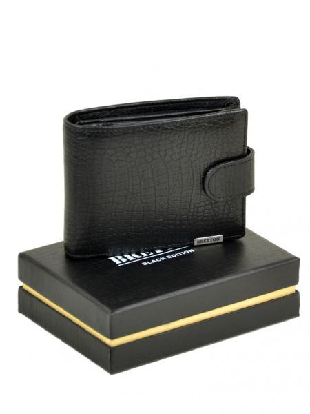 Фото  Мужской кошелек маленький SPA кожа BRETTON Артикул M3201 черный