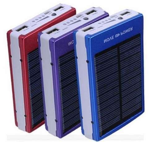 Power Bank 30000 mAh на солнечных батареях 2 USB