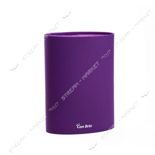 Колода для ножей Con Brio СВ-7101 фиолетовая