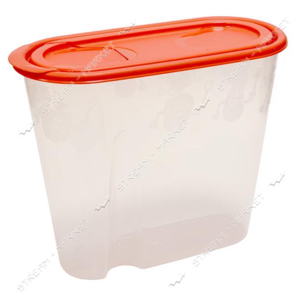 Емкость пластиковая для хранения круп 1.3л