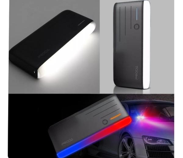 Power Bank PRODA 20000 mAh 3 USB-выхода + Встроенный фонарик