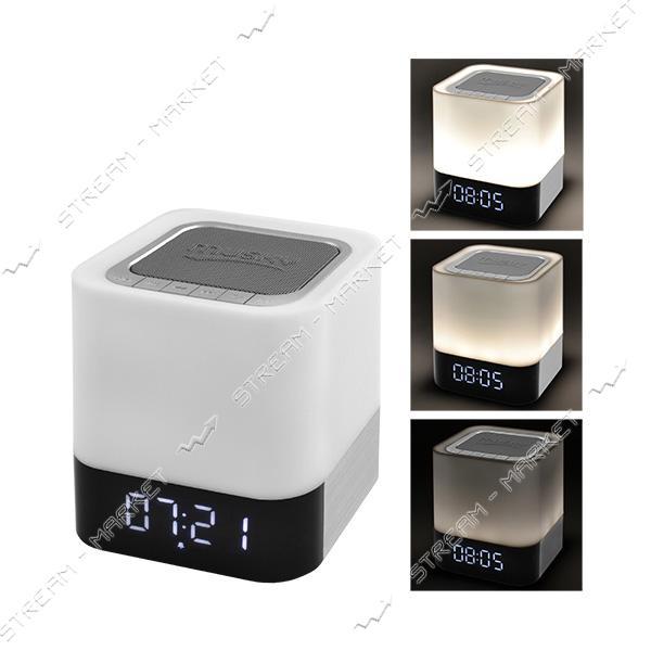 Bluetooth-колонка DY28 c функцией PowerBank, светильник сенсорный, часы, будильник