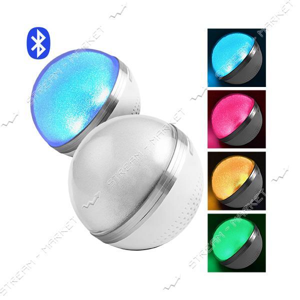 Bluetooth-колонка M8 перламутровая, speakerphone, шар