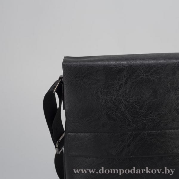 Фото Подарки на День рождения Планшет мужской, 1 отдел, 2 наружных кармана, регулируемый ремень, чёрный