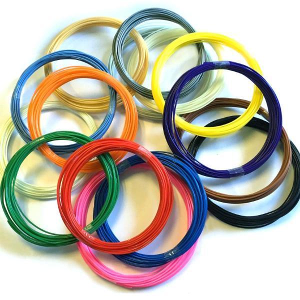 Фото  Запасной пластик для 3D ручек (20 цветов по 10 метров)