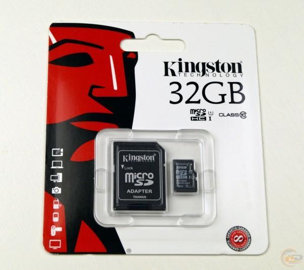 Карта памяти Kingston на 32 Гб microSD + картридер