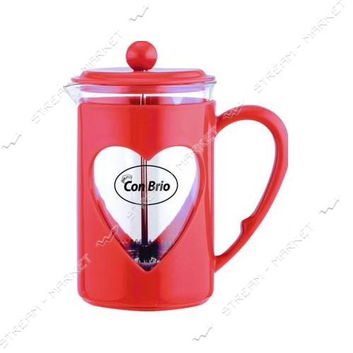 Заварник ConBrio CB-5680 красный 800мл пластик