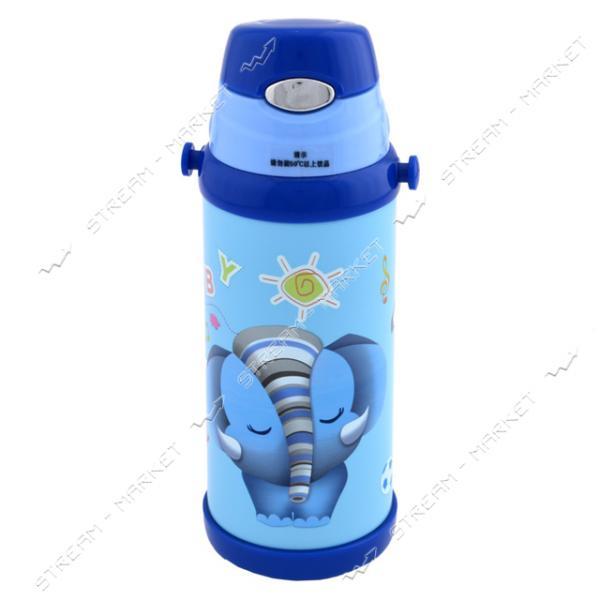 Термос детский LeEco KH-9008 0.35 л Голубой с кнопкой