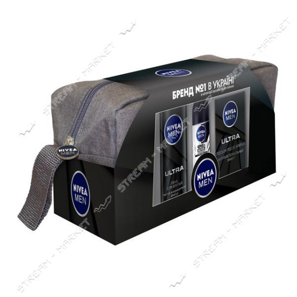 Подарочный набор для мужчин Nivea Ultra с косметичкой