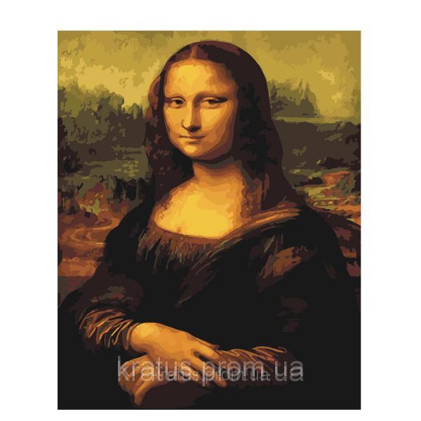 """G 241 """"Мона Лиза"""" Роспись по номерам на холсте 40х50см без коробки"""