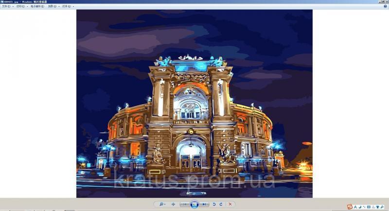 "GX 8423 ""Одесский Оперный театр летом"" Картина по номерам на холсте 40х50см без коробки, в пакете"