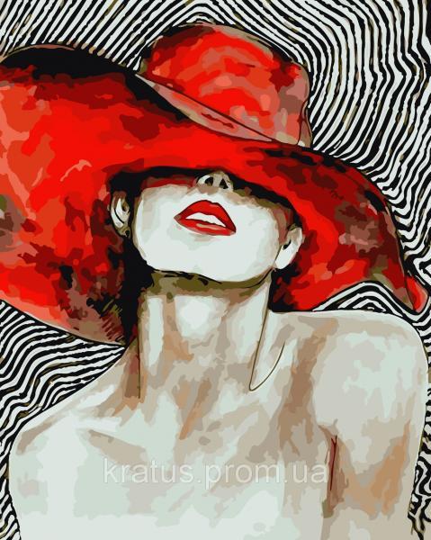 "AS 0082 ""Яркая дама"" Картина по номерам на холсте ART STORY 40x50см"