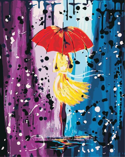 """AS 0444 """"Сказочный дождь"""" Картина по номерам на холсте Art Story 40x50см"""