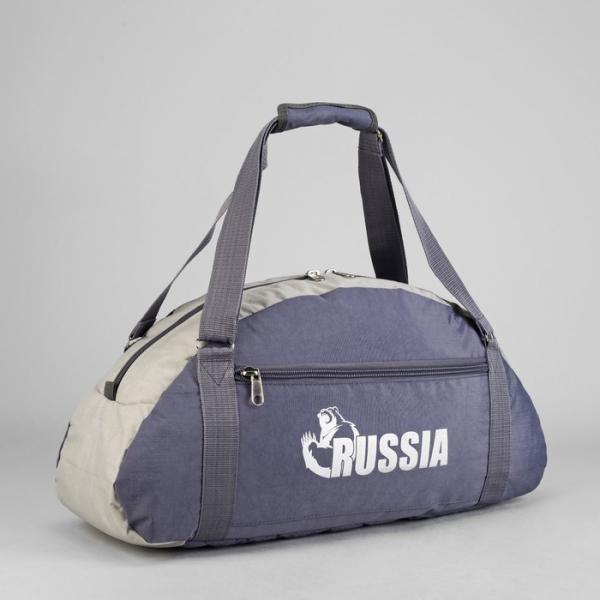 Сумка спортивная, отдел на молнии, наружный карман, цвет сиреневый/серый