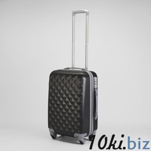 """Чемодан малый 20"""", отдел на молнии, кодовый замок, 4 колеса, цвет чёрный купить в Беларуси - Дорожные сумки и чемоданы"""