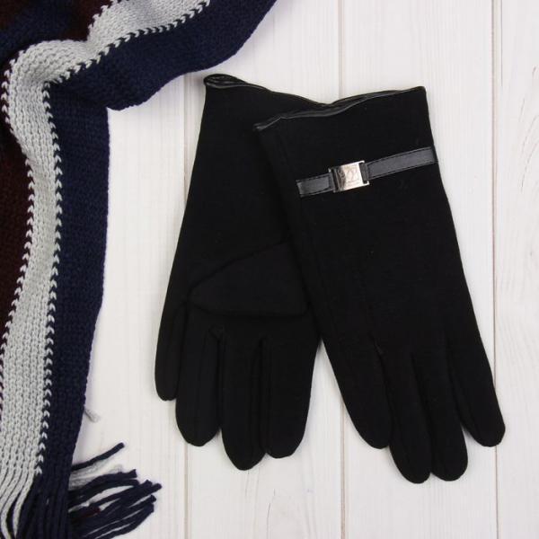 """Перчатки мужские """"Пряжка"""", размер 22, цвет чёрный 65440"""