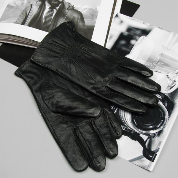Перчатки мужские, подклад - флис, р-р 11.5, цвет чёрный